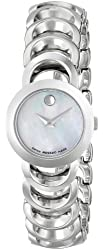 Movado Women's 606249 Rondiro Stainless-Steel White Mother of pearl Round Dial Watch