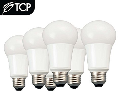 TCP 6 Pack of LED A19 - 60 Watt Equivalent Soft White (2700K) Light Bulb -#LA1027KND6