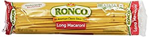 Ronco Long Macaroni, 12-Ounce (Pack of 8)