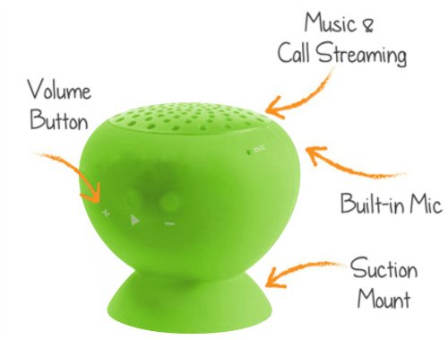 Mini Portable Bluetooth Speaker - Great Sound, Water Resistant With Built-In Microphone - Lime Green