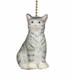 Gray Kitty Cat Ceiling Fan Pull