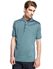 Autograph Pure Cotton Slim Fit Birdseye Polo Shirt