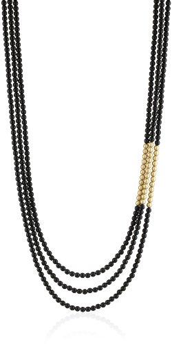 K. Amato Two Tone Black Beaded Necklace