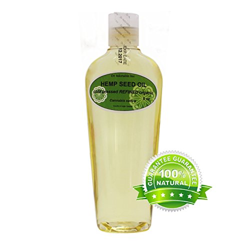 8 oz Hemp Seed Oil REFINED Pure Organic Cold Pressed by Dr.Adorable