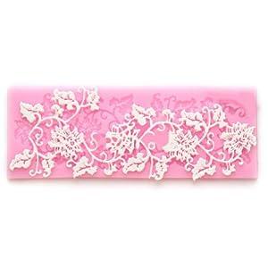 Cake Decorating Lace Molds Uk : Wholeport Fondant Lace Mold Fondant Mold Candy Mold Cake ...
