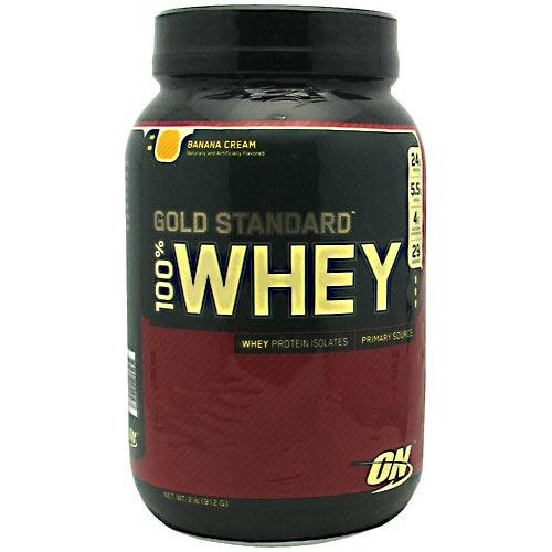 100% Whey Gold, Banana Crm, 2.0 lb ( Multi-Pack) протеин vp laboratory 100 % platinum whey ваниль 910 г банка