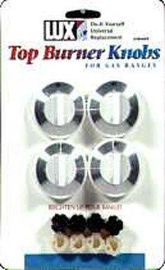 KNOB OVEN GAS WHITE 4PK by LUX MfrPartNo CPR-409 (Gas Stove Knobs White compare prices)