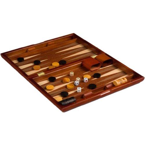 "Wooden Piano Lacquer Backgammon Game Set 13"""
