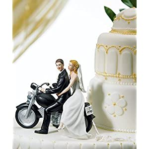 wedding reception decoration ideas, motorcycle cake topper