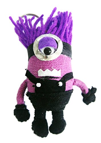 Purple Evil Minion Despicable Me 2 Voodoo String Doll Keychain Keyring (#61)