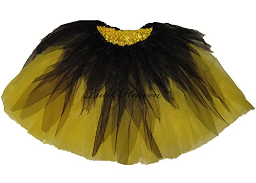 Southern Wrag Company . ADULT HALLOWEEN SHREDDED YELLOW Tutu . Waist 18-36 Length 16