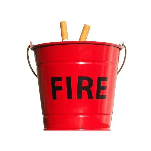 """Suck UK - Portacenere a forma di secchio con scritta """"Fire"""""""