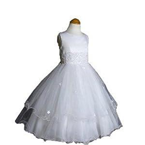 Lito Communion Dress - White Organza and Pearls