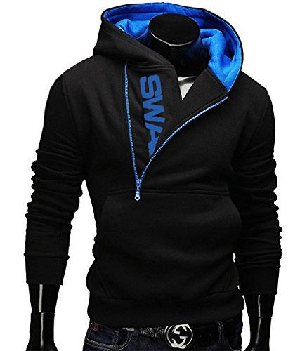 Gillbro Mens novità Color Block cappuccio Cozy Sport autunno Outwear, C, S