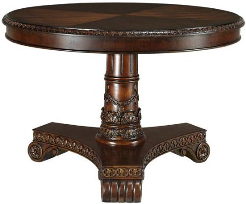 This Deals Hand Carved Franklin Hall Dining Table 32 Hx48 DIA DAR