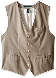 Perry Ellis Men\'s Big-Tall Big and Tall Solid Texture Suit Vest, Natural Linen, 2X
