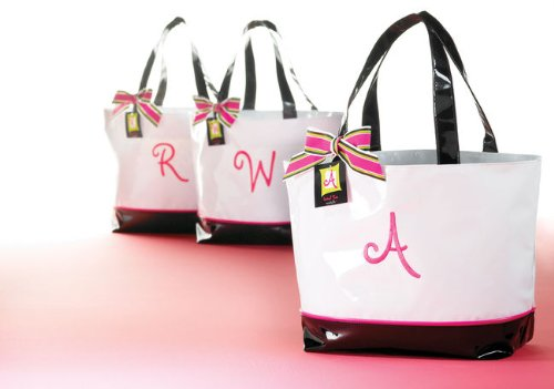 Mud Pie Women'S Initial Tote Bag - B front-560759
