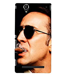 PRINTSHOPPII NICOLAS CAGE FAN Back Case Cover for Sony Xperia T2 Ultra::Sony Xperia T2 Ultra Dual