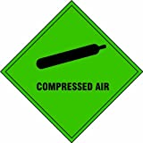 Compressed Air self adhesive vinyl 200 x 200mm