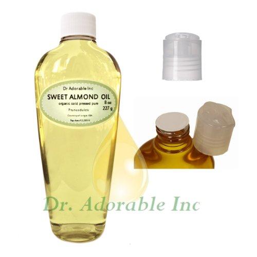 Sweet Almond Oil 100% Organic Skin Care 8 Oz front-915678