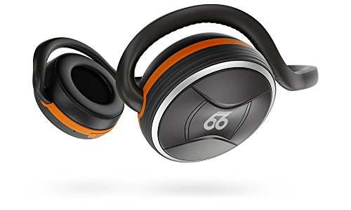 66 Audio BTS Pro Bluetooth 4.2 Wireless Sports Headphones w/ MotionControl iOS App [Amazon Exclusives] (Lava Orange)
