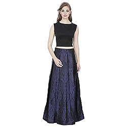 Emmylyn Black & Blue Skirt For Women