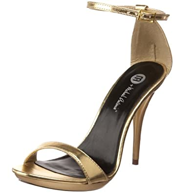 Michael Antonio Women's Luelle Platform Sandal,Gold Metallic,6 M US