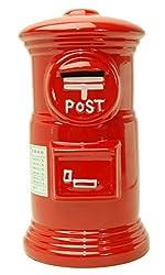 エス・ワールド 赤いポスト貯金箱 30cm