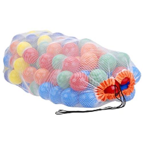 "My Balls Pack Of 100 Pcs 2.5"" Phthalate Free Pba Free Crush Proof Plastic Ball Pit Balls - 5 Bright Colors In Storage Mesh Bag"