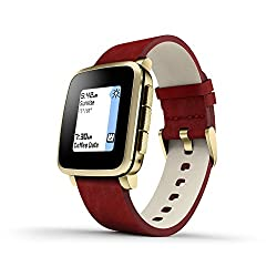 Pebble Technology Corp Time Steel 511-00036 Smartwatch (Gold)