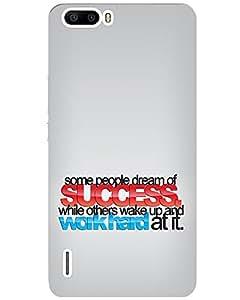 WEB9T9 Huawei Honor 6 plus back cover Designer High Quality Premium Matte Finish 3D ...