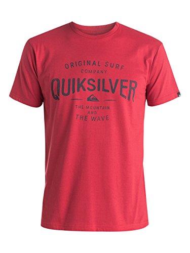 Quiksilver -  T-shirt - Maniche corte  - Uomo Rosso Red (American Beauty) X-Small