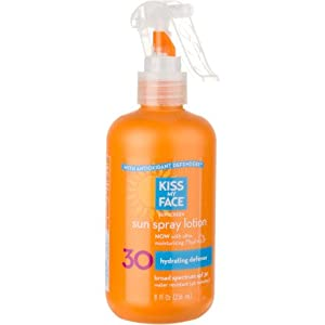 Kiss My Face Sun Spray Lotion Sunscreen