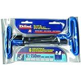 "Eklind Tool Company 55166 6 Piece 6"" Cushion Grip Metric T-Handle Hex Key Set"