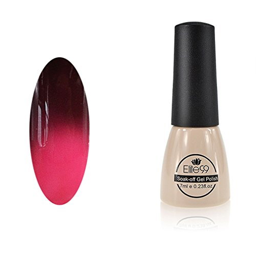 Chameleon Temperature Changing Colour Nail Lacquers Soak Off UV LED Gel Polish Brown - Heather Rose (Temperature Color Nail Polish compare prices)