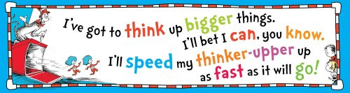 Eureka Dr. Seuss Think Up Bigger Things Banner - 1