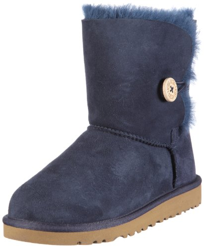 UGG Australia Infants' Bailey Button Toddler Suede Boots,Navy Blue,8 Child US