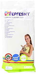 Savic Refresh'R' Cage & Accessories Cleaning Wipes Small Animals