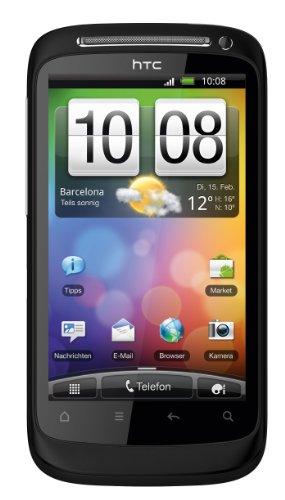 HTC Desire S Mobiltelefon (9,4 cm (3,7 Zoll) Display, Touchscreen, 5 Megapixel Kamera, Android OS) schwarz