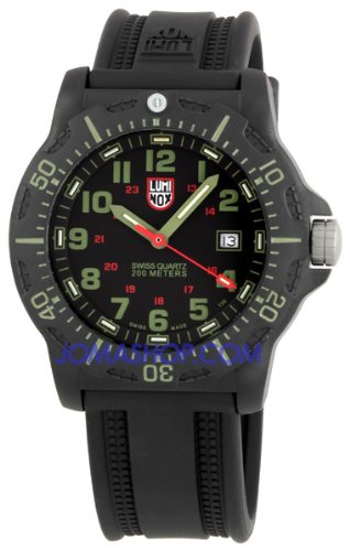Luminox 8817 Luminox Navy Seal 20th Anniversary Seal 8817 Black/Green Dial New Evo Strap Mens Watch
