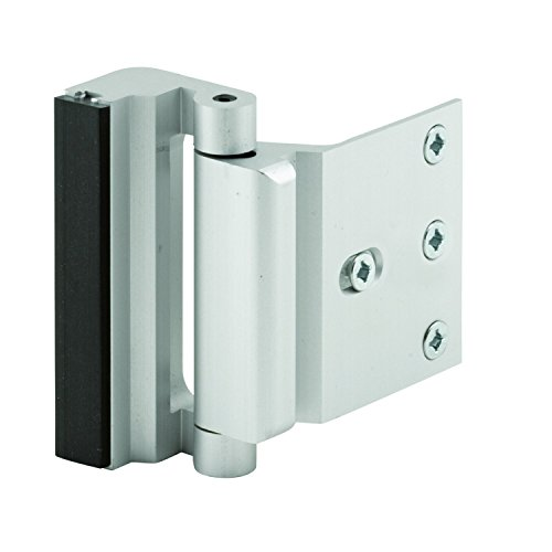 Prime-Line Products U 10827 Door Reinforcement Lock, 3 in. Stop, Aluminum Construction, Satin Nickel Anodized Finish