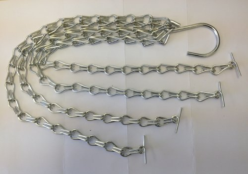2 Sets of Metal Chains for Easy Fill Hanging Baskets