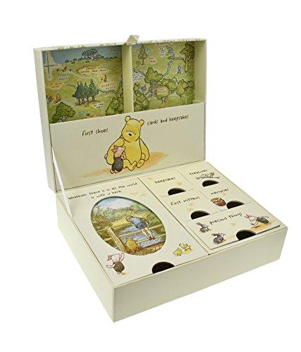 Pooh Classics Range D1167 - Scatola portaricordi con scomparti Disney Classic, motivo con Winnie The Pooh e i suoi amici