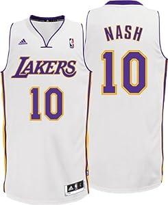 Buy NBA adidas Steve Nash Los Angeles Lakers Revolution 30 Swingman Performance Jersey - White by adidas