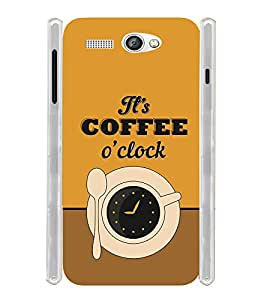 It's a Coffee Clock Soft Silicon Rubberized Back Case Cover for Lava Flair P1