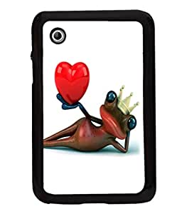 printtech Frog Heart King Crown Back Case Cover for Samsung Galaxy Tab 2 7.0 P3100 , Samsung Galaxy Tab 2 (7.0)