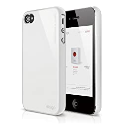 elago S4 Slim Fit 2 Case for iPhone 4/4S - Snow White + HD Professional Extreme Clear film