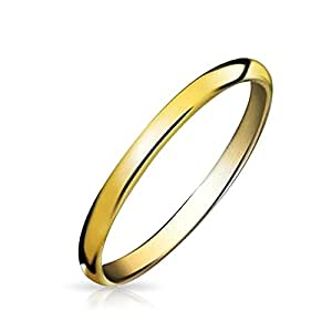 Valentine Gifts Gold Plated Tungsten Unisex Wedding Band Ring 2mm