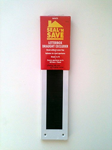 Seal n Save Letterbox Draught Excluder, White (Seal N Save compare prices)