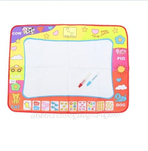 80x60cm Water Drawing Toy Painting Writing Mat Board 2 Magic Pens Doodle Mat BE bbkub